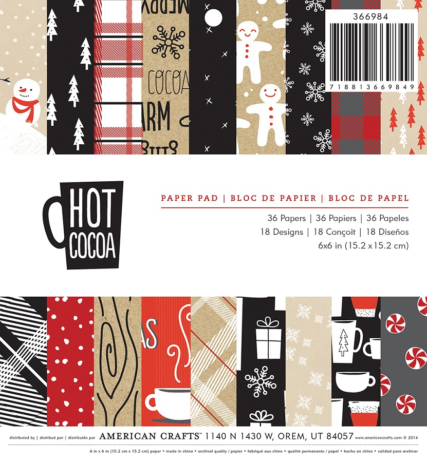 American Crafts Christmas 6 X 6 Paper Pad Hot Cocoa