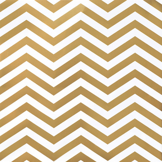 American Crafts Diy Shop 2 Gold Foil Chevron On White Paper