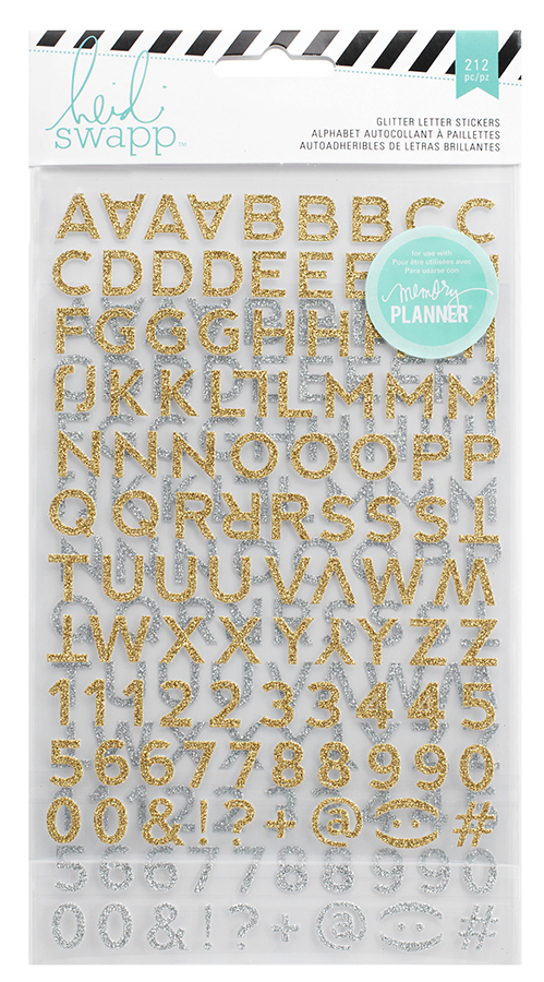 Gold American Crafts DIY2 Typewriter Letter Stickers