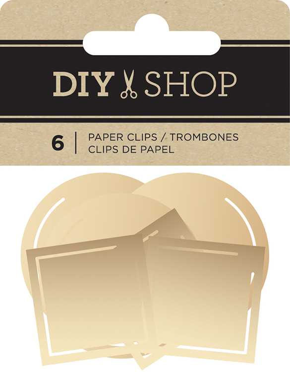 American Crafts Diy Shop 3 Gold Paper Clips