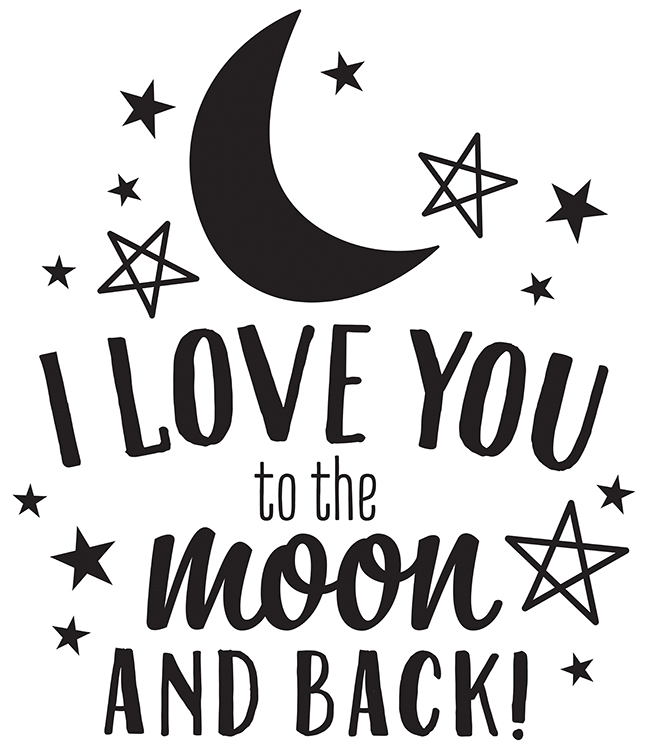 I Love You Quotes: American Crafts Wall Art Vinyl Moon And Back Quote Decals