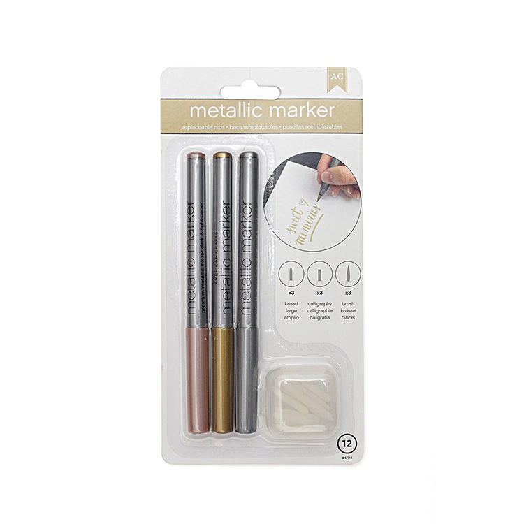 american crafts rose gold gold and silver 3 pack metallic ForAmerican Crafts Metallic Marker