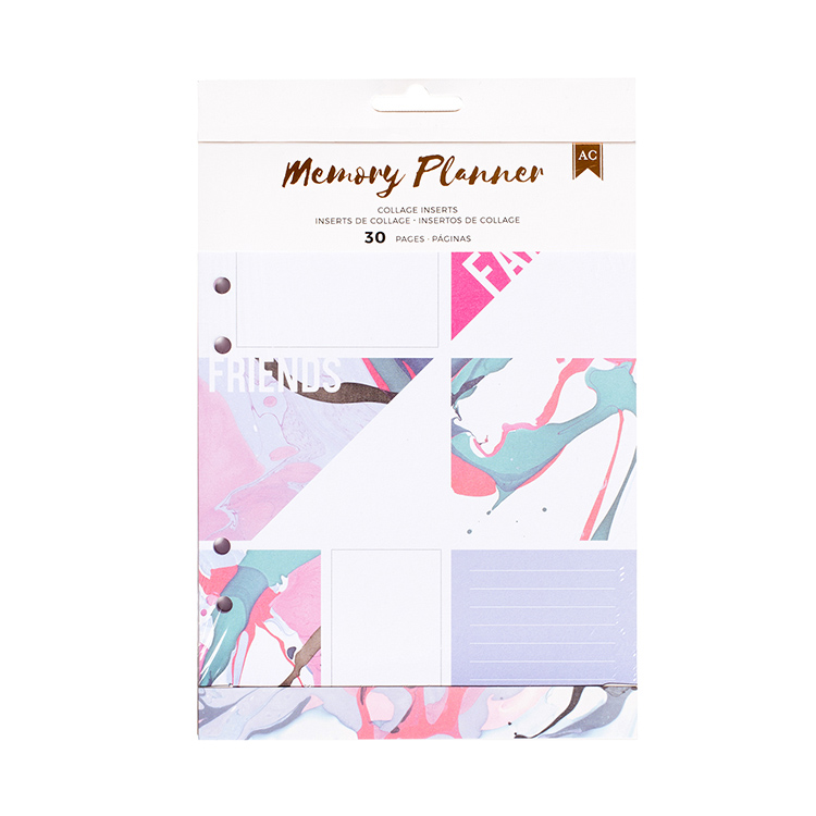 american crafts memory planner marble crush collage event planner