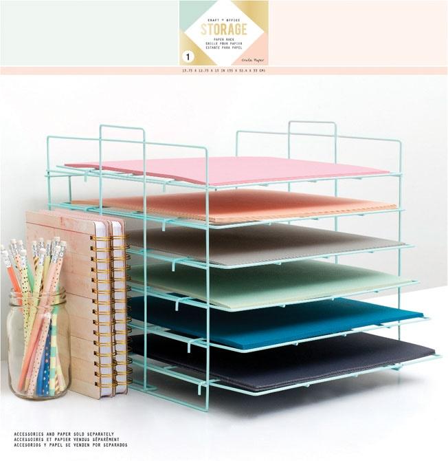 Crate Paper - Desktop Storage - Paper Rack & Crate Paper Rack Desktop Storage