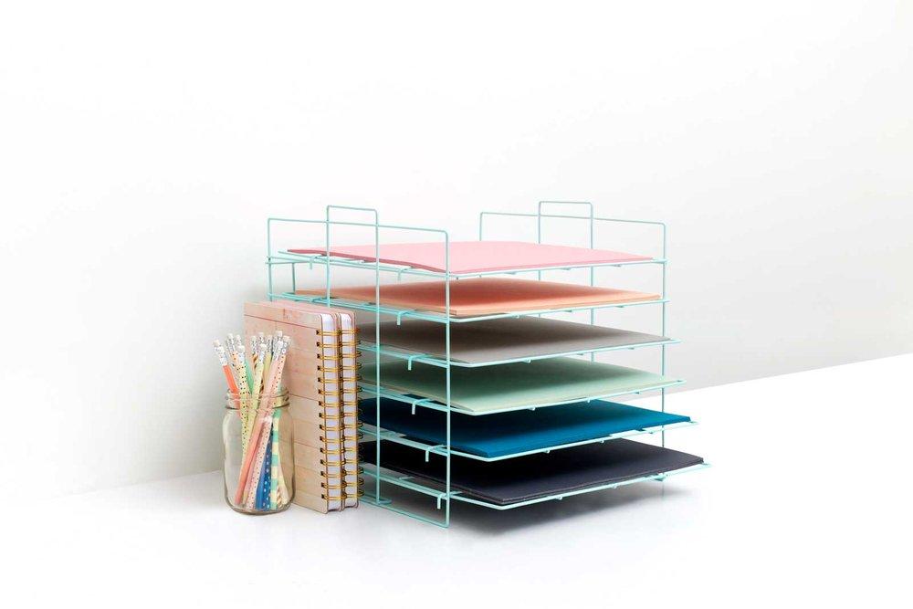 Crate Paper Desktop Storage Rack