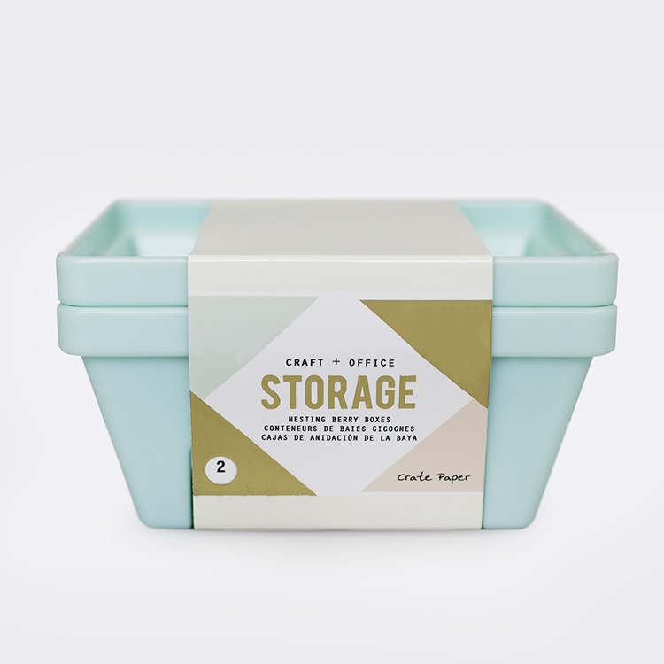 Crate Paper Nesting Berry Containers Desktop Storage