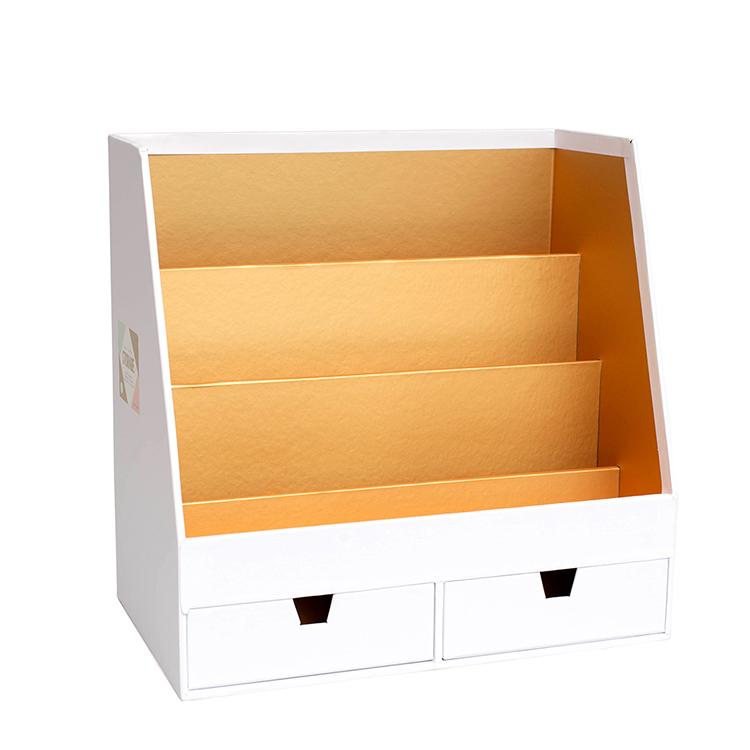 crate paper desktop storage desktop organizer