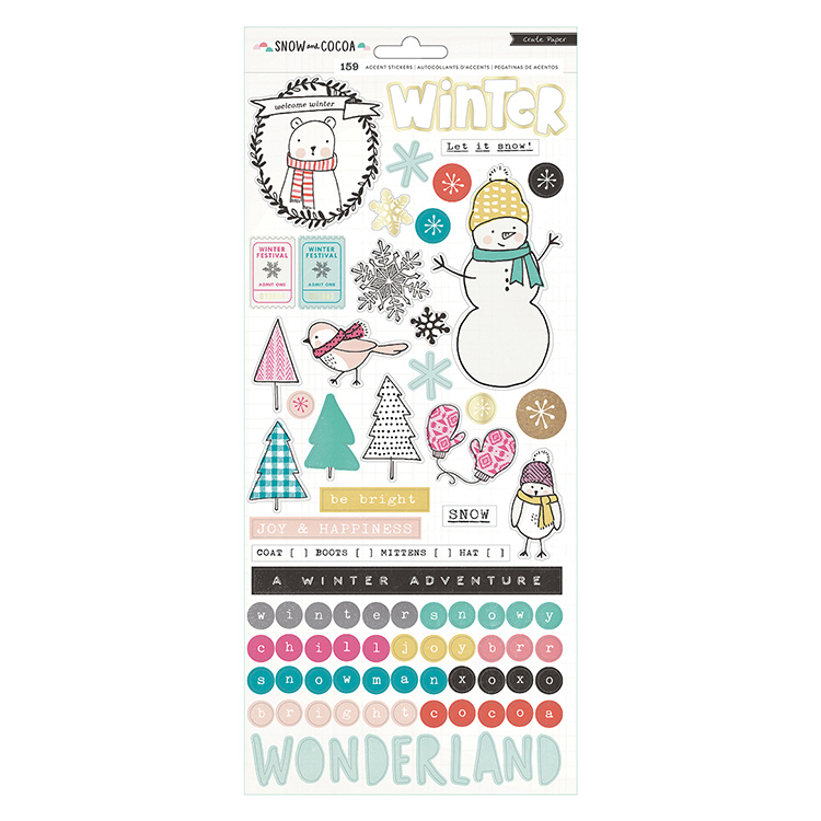 Crate Paper - Snow and Cocoa 6x12 Stickers