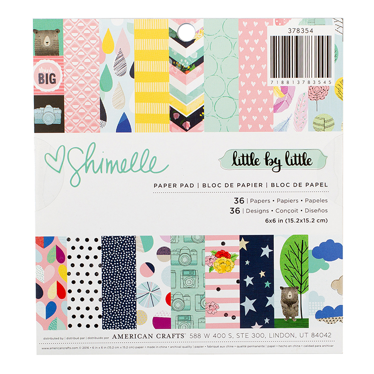 American Crafts Little By Little 6x6 Paper Pad