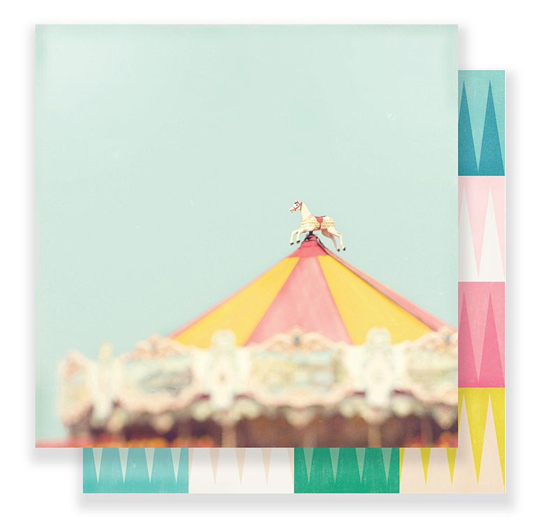 Crate Paper - Carousel 12 x 12 Paper - Magical