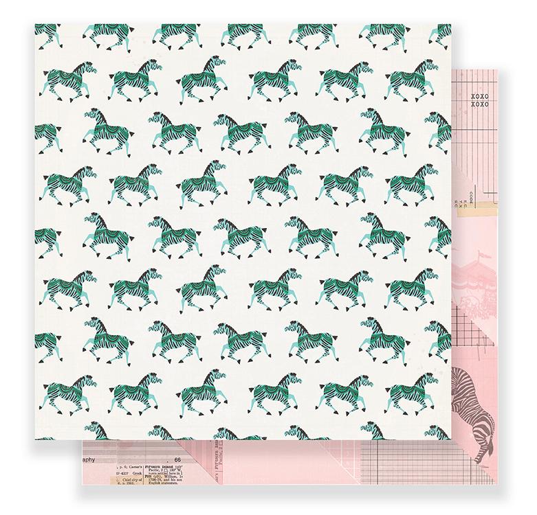 Crate Paper - Carousel 12 x 12 Paper - Gallop