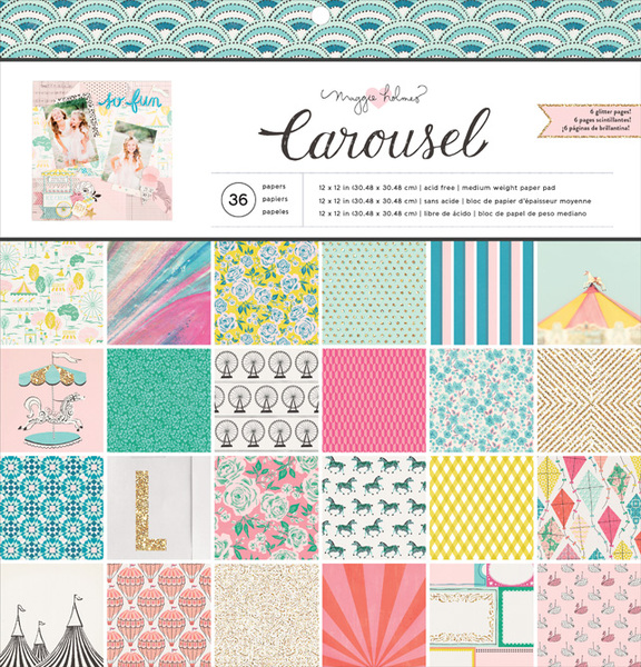 Crate Paper - Carousel 12 x 12 Paper Pad