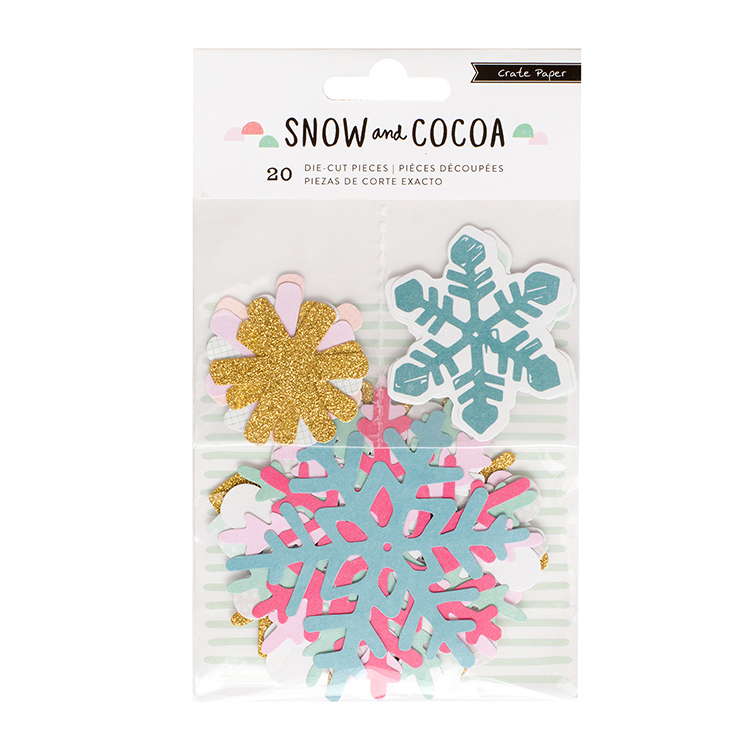 Crate Paper - Snow and Cocoa Snowflakes