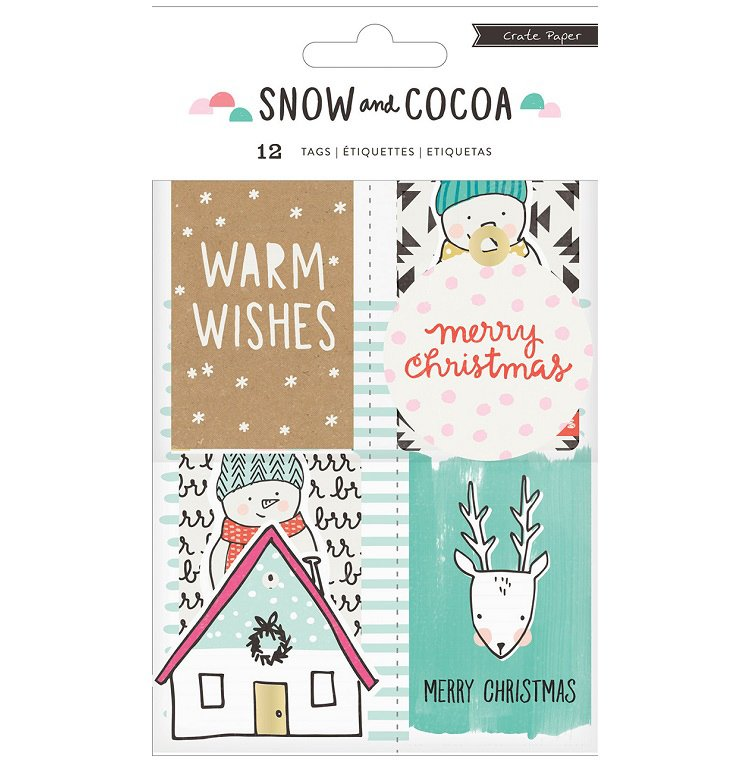 Crate Paper - Snow and Cocoa Decor Tags