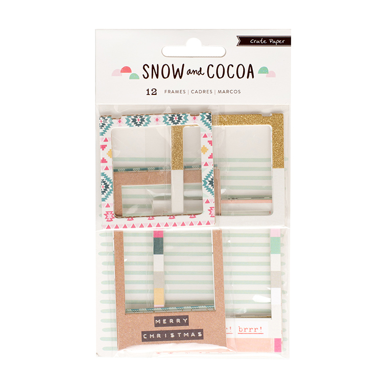 Crate Paper - Snow and Cocoa Chipboard Frames