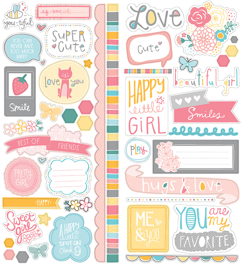 american crafts   my girl collection   remarks   cardstock