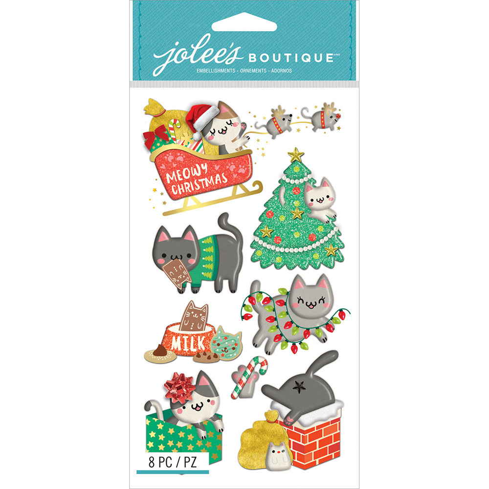 Lot of 18 pks 3D stickers Jolee's Boutique Scrapbooking  Christmas Holiday