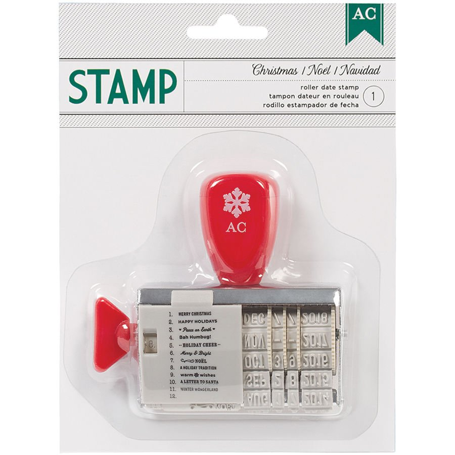 american crafts   christmas   roller date stamp   christmas