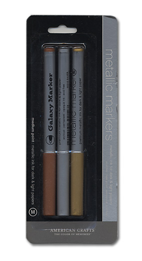 American crafts metallic markers medium point 3 pack for American crafts metallic marker