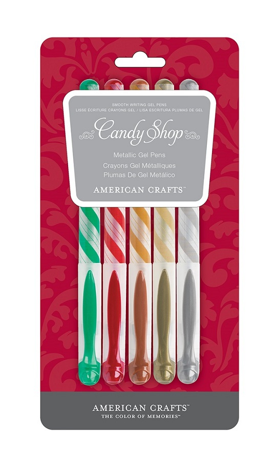 American crafts christmas metallic gel pen set 5 pack for American crafts metallic marker