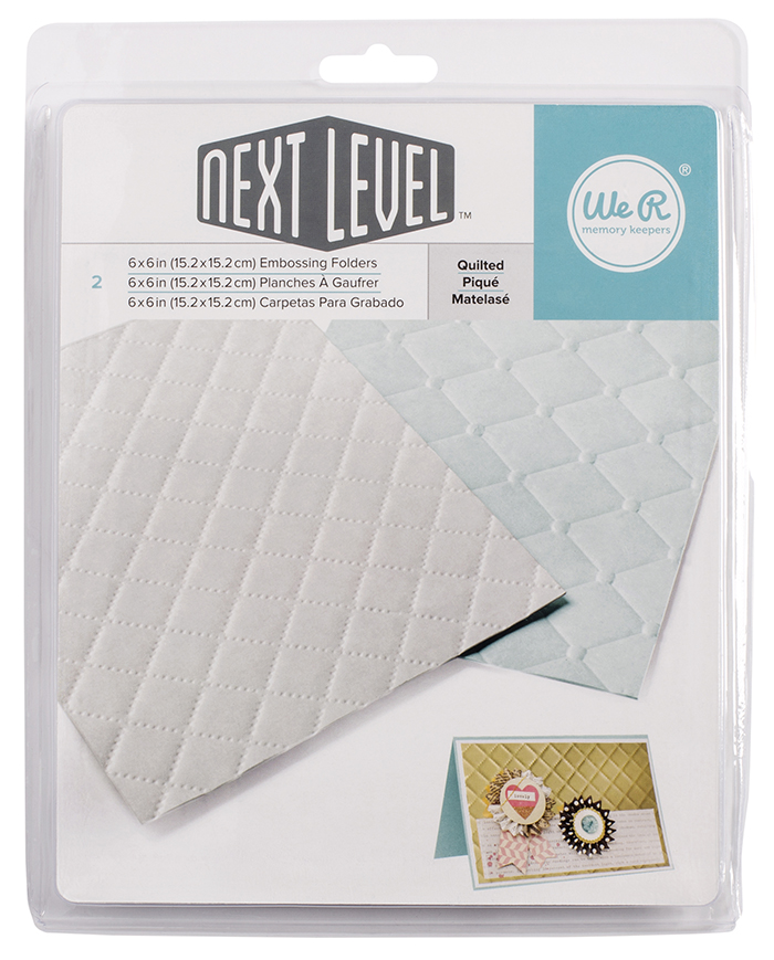 We R Memory Keepers Next Level Embossing Folders Quilted
