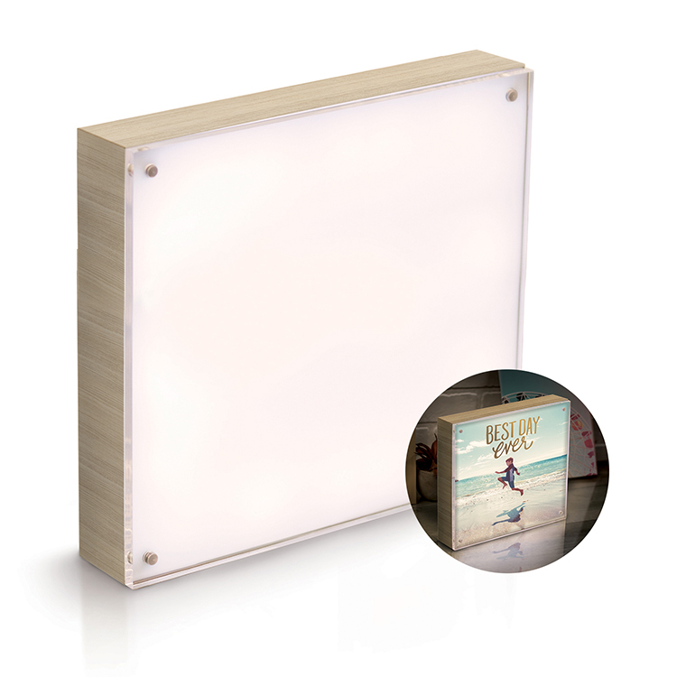We R Memory Keepers Photo Lights 8x8 Natural Acrylic Wood Frame