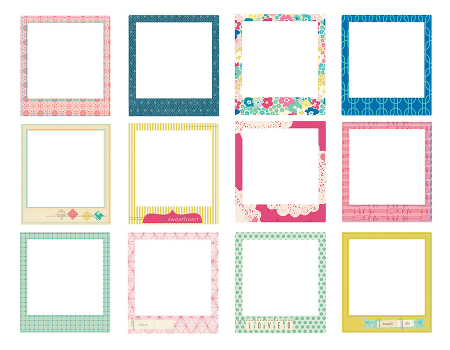 American Crafts Crate Paper Maggie Holmes Stitched Fabric Frames
