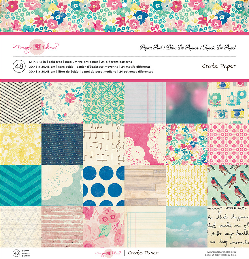 American Crafts Crate Paper Maggie Holmes 12 X 12 Paper Pad