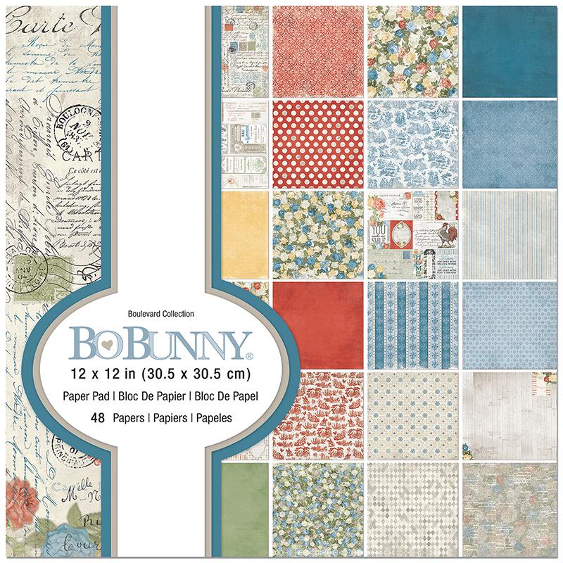 BoBunny SOUVENIR DESTINATION 12x12 Dbl-Side 2pc Scrapbooking Paper JUST 99 CENTS