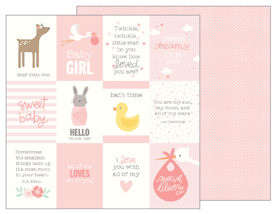 pebbles lullaby baby girl quotes paper