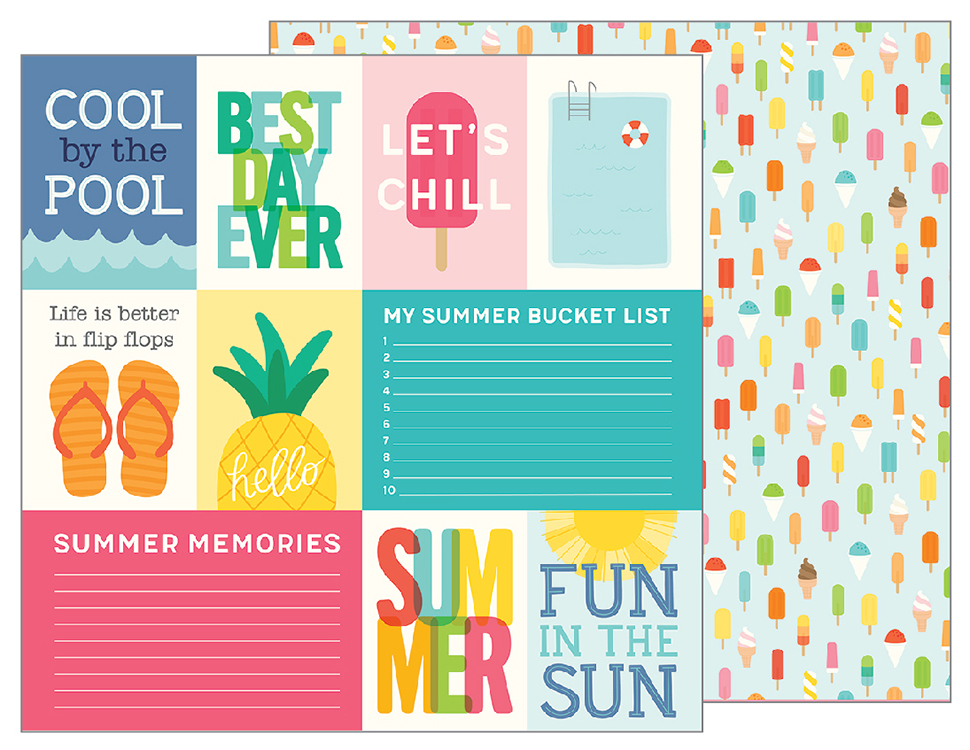 Pebbles Sunshiny Days Hello Summer Quotes Paper