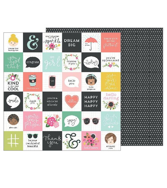 Pebbles Inc Girl Squad 12x12 Hello Friends
