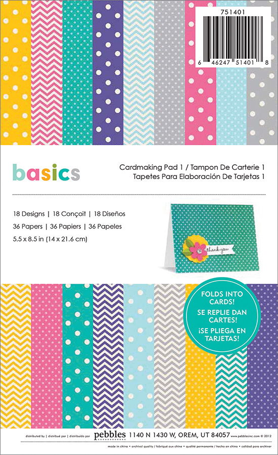 Paper Pads For Card Making Part - 33: American Crafts - Pebbles - Basics Collection - 5.5 X 8.5 Cardmaking Paper  Pad 1