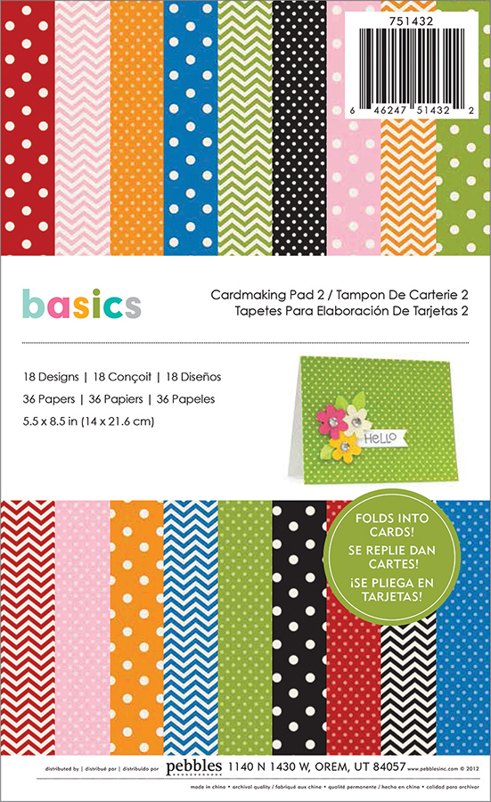 Basics Collection - 5.5 x 8.5 Cardmaking Paper Pad 2