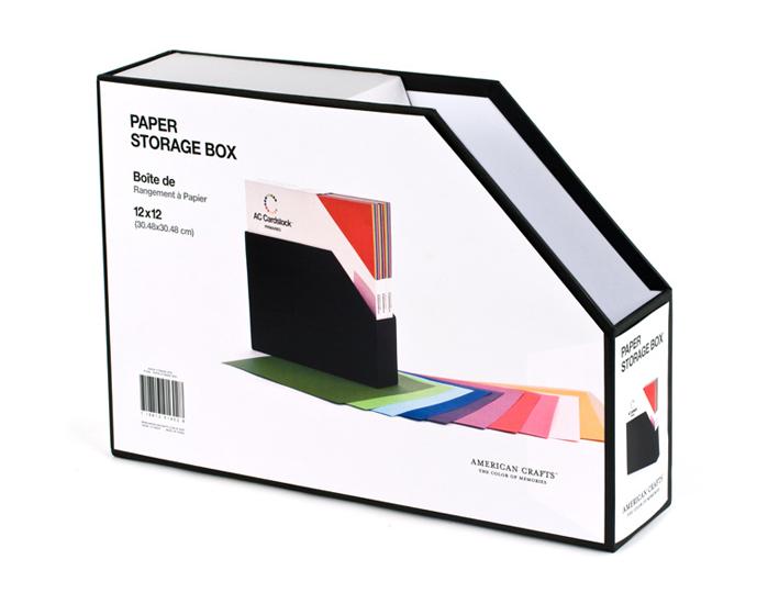 American Crafts 12 X 12 Paper Storage Box