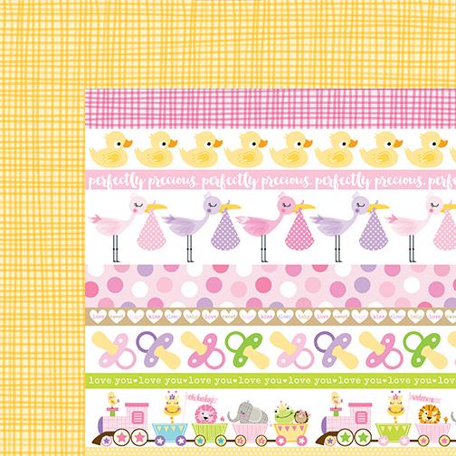 bella blvd sweet baby girl borders paper