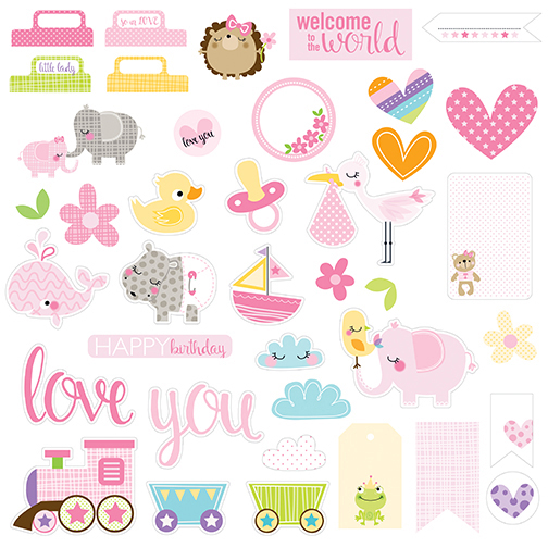 Mrs Teddy Double-Sided Cardstock Paper Bella Blvd 12x12 Sweet Baby Girl
