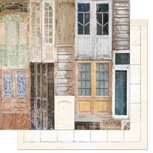 & BoBunny - The Avenues Collection - 12 x 12 Double Sided Paper - Doors