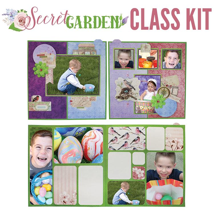 BoBunny - Secret Garden Collection - 4-Page Layout Kit