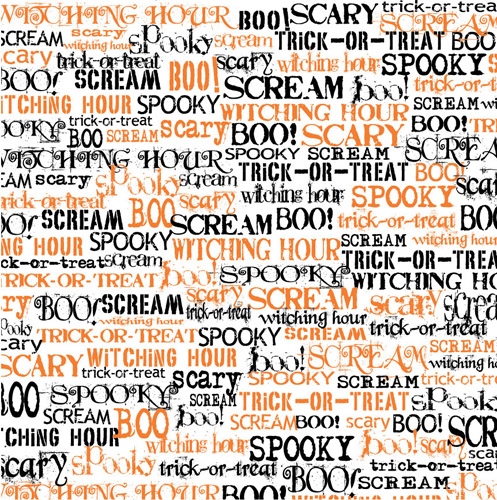 canvas corp halloween 12 x 12 paper spooky words on white