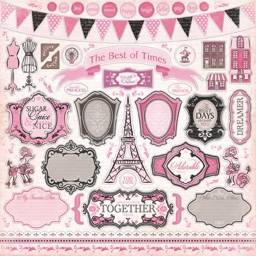 Carta bella paper paris girl collection 12 x 12 - Boutique scrapbooking paris ...
