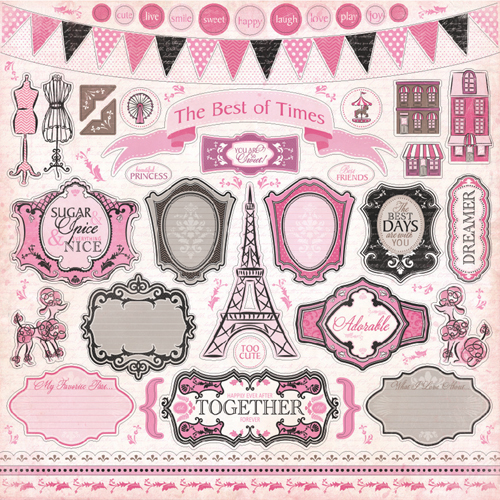 Carta bella paper paris girl collection 12 x 12 - Magasin de scrapbooking paris ...