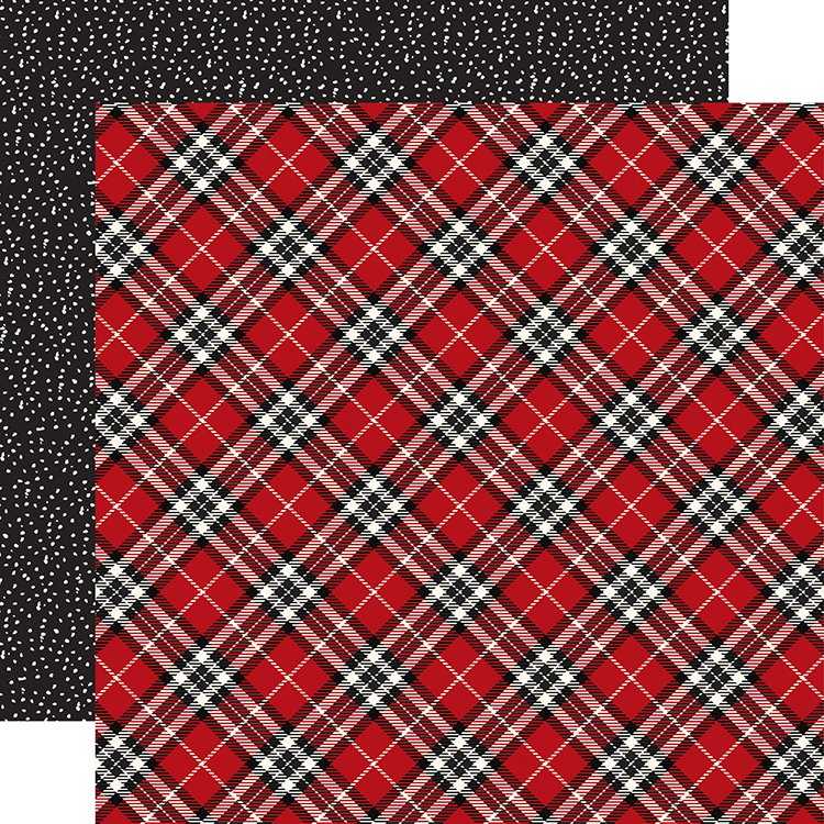carta bella paper christmas delivery collection 12 x 12 double sided paper christmas plaid - Christmas Plaid