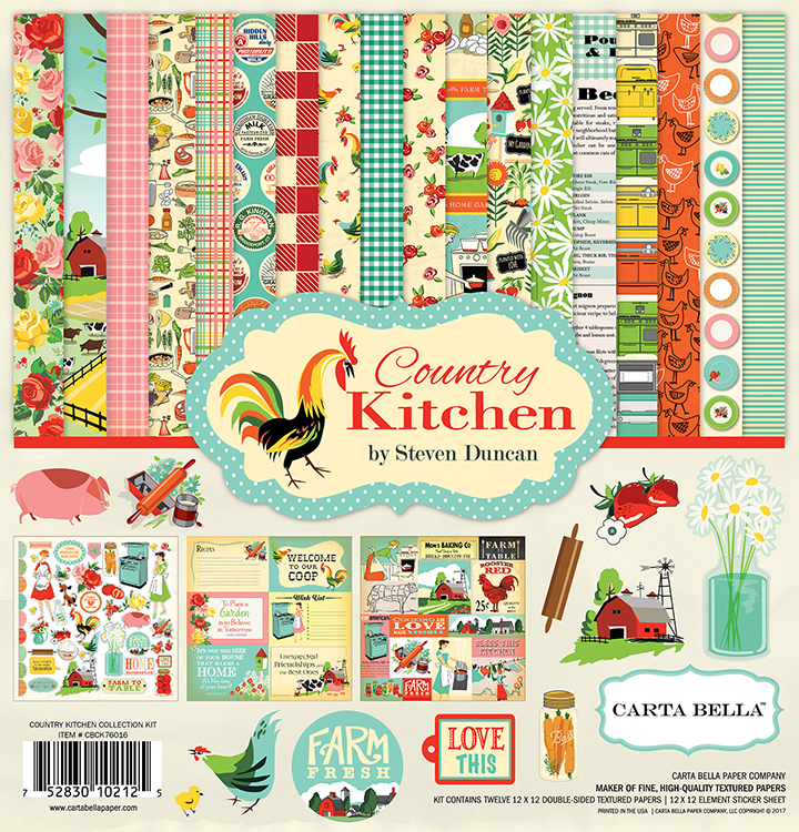 Carta Bella Paper   Country Kitchen Collection   12 X 12 Collection Kit