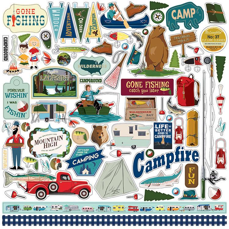 Carta Bella Paper Company CBGC85016 Gone Camping Collection Kit Paper Multicolor 12 x 12