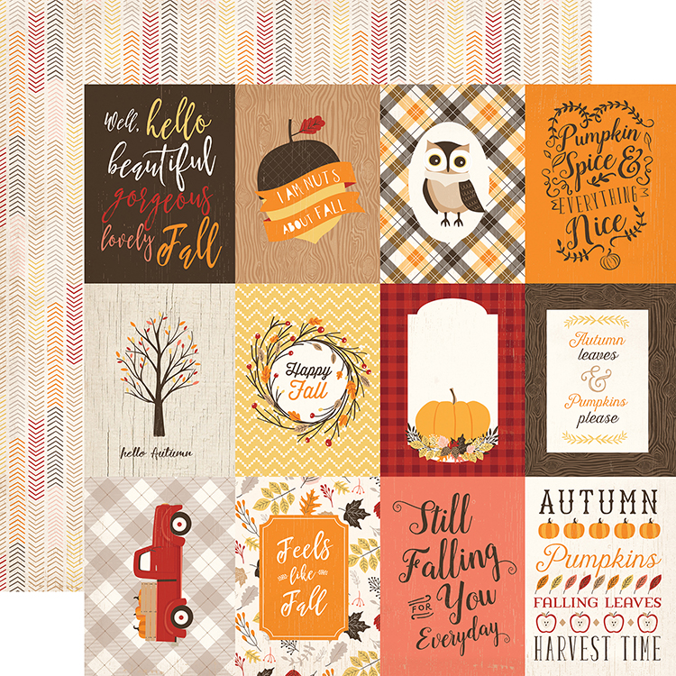 Carta Bella Paper   Hello Fall Collection   12 X 12 Double Sided Paper   3  X 4 Journaling Cards