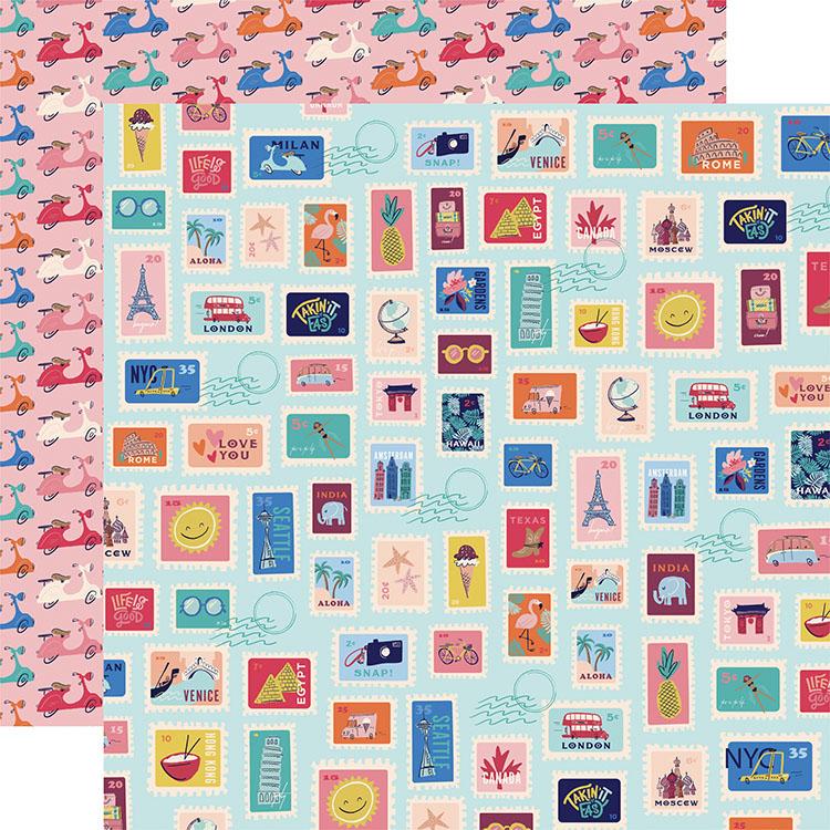 """Nouveau Carta Bella Papier 12/""""x12/"""" Kit Let/'s Travel"""