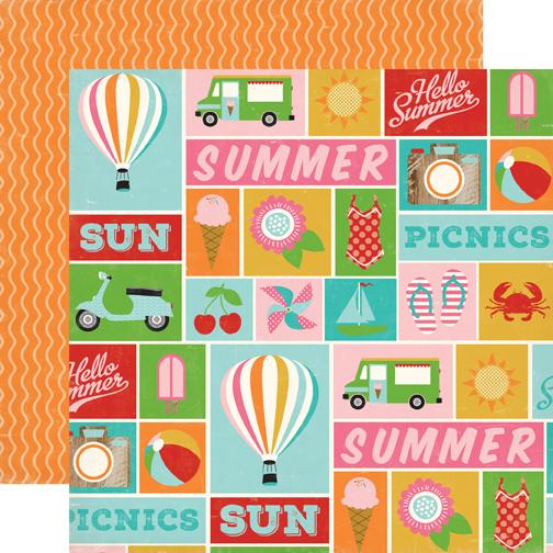Carta Bella Soak Up The Sun Summer Icons Paper