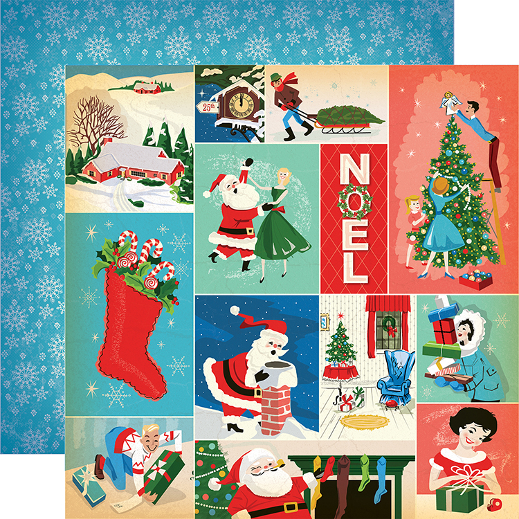 Very Merry Christmas.Carta Bella Paper A Very Merry Christmas Festivities Journaling Cards Paper