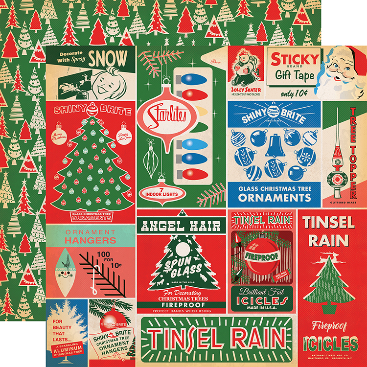 carta bella paper a very merry christmas collection 12 x 12 double sided paper vintage packaging journaling cards